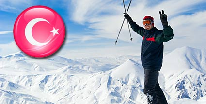 Skiurlaub in der Türkei: Die Skigebiete Uludag und Palandöken. Geheimtipp: Skiurlaub in der Türkei (Quelle: Thinkstock by Getty-Images/Montage: t-online)