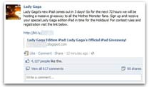 Lady Gaga-Edition des iPad 2 lockte in die Falle. (Quelle: Sophos)