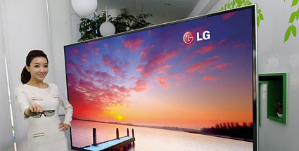 ces 2012 neuer 3d fernseher lg 3d ud tv mit 84 zoll display. Black Bedroom Furniture Sets. Home Design Ideas