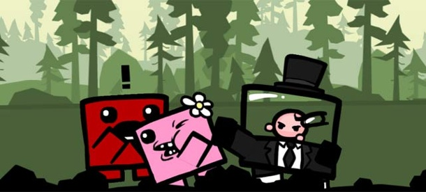 Super Meat Boy: Jump'n'Run mehr als eine Million Mal verkauft. Super Meat Boy (Quelle: Team Meat)