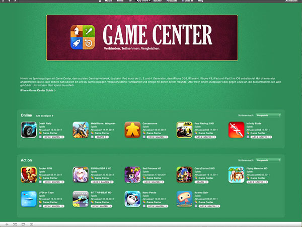 iOS 5 Game Center: Spieler im Fokus von Apple (Quelle: Apple)