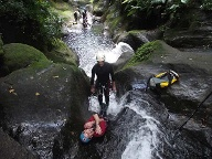 Canyoning auf Guadeloupe. (Quelle: SRT )