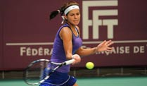 Julia Görges in Paris locker im Viertelfinale. Julia Görges steht in Paris im Viertelfinale. (Quelle: imago)