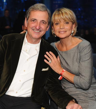 Uschi Glas with friendly, Husband Dieter Hermann