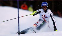 Slalom: Felix Neureuther fädelt am ersten Tor ein. Slalom-Spezialist Felix Neureuther (Quelle: Reuters)