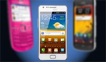Global Mobile Awards: Das beste Handy ist ein Nokia. Nokia C3-00 (l.), Samsung Galaxy S2 und Nokia 808 Pure View siegen beim Global Mobile Award (Quelle: Hersteller)