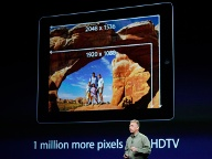 Apple-Marketing-Chef Phil Schiller präsentiert das neue iPad. (Quelle: Reuters)