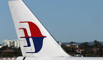 Malaysia Airlines: Kinderfreie Zone im Oberdeck der A380. Flugzeug der Malaysia Airlines (Quelle: dpa)