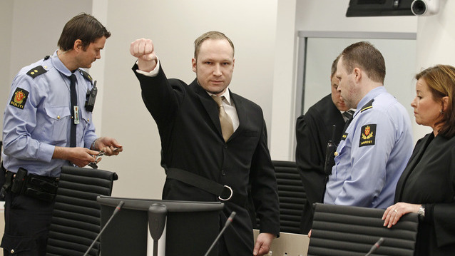 Prozess gegen Attent&auml;ter Breivik hat begonnen (Foto: AP)