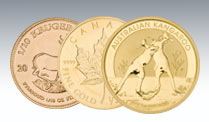 Krügerrand, American Eagle, Maple Leaf, Philharmoniker & Co. kaufen. (Quelle: ophirum.de)