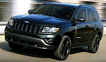 Jeep Compass Black Edition: SUV ganz in schwarz. Jeep Compass Black Edition (Quelle: Hersteller)