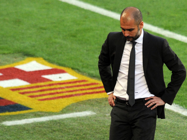 Trainer Josep Guardiola schied mit Titelverteidiger Barcelona gegen den FC Chelsea im Champions-League-Halbfinale aus. Kurz darauf verkndete er seinen Rcktritt zum Saisonende. (Quelle: Reuters)