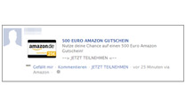 Abo-Abzocker locken mit Amazon-Gutschein (Quelle: www.mimikama.at)