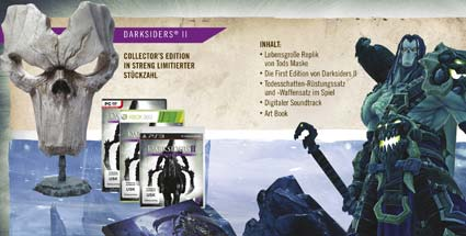 Darksiders 2: Limitierte Collector's Edition angekündigt. Die limitierte Collector's Edition zu Darksiders 2 für PC, PS3 und Xbox 360 (Quelle: THQ)