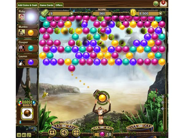 "Screenshot aus dem Bubble-Shooter ""Bubble Safari"" von Zynga. (Quelle: Zynga)"