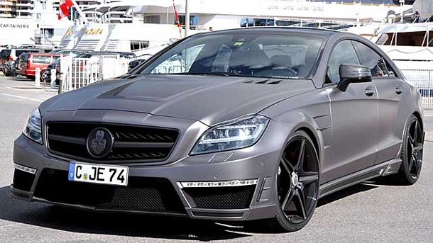 German Special Customs machen einen Benz zum Stealth-Bomber. Mercedes CLS 63 AMG von German Special Customs (Quelle: Hersteller)