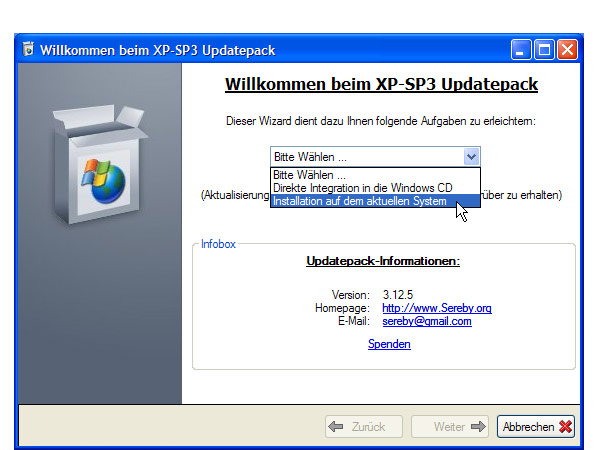 Sp3 service pack anach for Window xp service pack 3