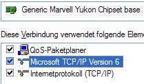 Unter Windows XP muss der IPv6-Standard zustzlich installiert werden. (Quelle: t-online.de)