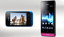 Xperia miro, Xperia tipo: Smartphone-Offensive von Sony . Sony Xperia tipo (l.) und Xperia miro (Quelle: Hersteller)