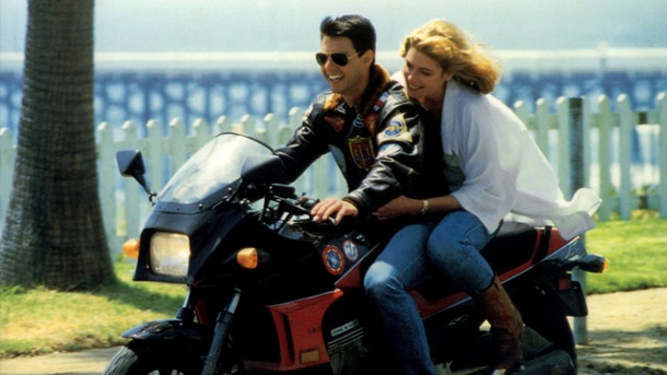 "Das ""Top Gun"" - Motorrad Kawasaki GPZ 900 R Ninja. Top Gun (Quelle: imago/United Archives)"