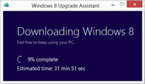 Windows 8 Pro-Upgrade für 40 Dollar . Windows 8 Upgrade Assistant installiert neues Windows (Quelle: Microsoft)