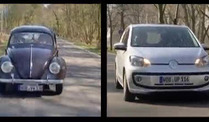 VW-Generationentreffen: Käfer und Up! (Screenshot: DW)
