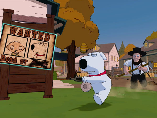 """Screenshot aus dem abgefahrenen Arcade-Action-Game """"Family Guy: Back to the Multiverse"""". (Quelle: Activision)"""
