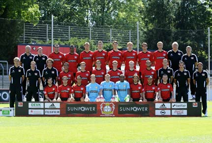 Mannschaftsfoto von Bayer Leverkusen der Saison 2012/2013. (Quelle: imago)