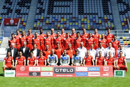 Mannschaftsfoto von Fortuna Dsseldorf aus der Saison 2012/2013. (Quelle: imago)