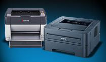 Laserdrucker-Modelle von Kyocera und Brother (Quelle: t-online.de)
