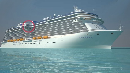 Der SeaWalk der &quot;Royal Princess&quot; (Quelle: Princess Cruises/SRT)