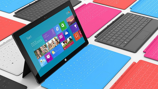 "Surface startet ""bescheiden"" - Microsoft macht Surface Pro billiger. Microsoft Tablet-PC Surface kostet in der günstigsten Version 479 Euro. (Quelle: Microsoft)"