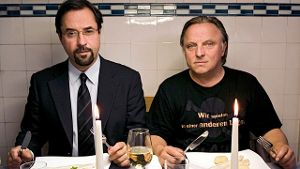 'Tatort': Dream-Team Boerne (Jan Josef Liefers, li) und Thiel (Axel Prahl) (Quelle: ARD)