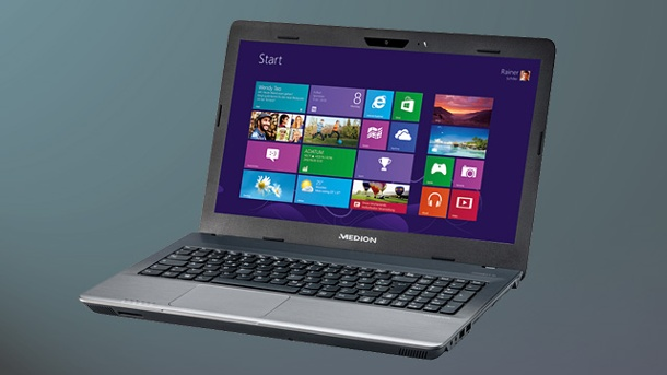 Aldi-Notebook Medion Akoya E6232 mit Windows 8. Aldi-Notebook Medion Akoya E6232 (MP99070) (Quelle: Hersteller)