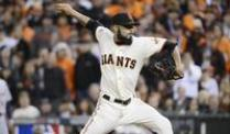 San Francisco gewinnt auch zweites MLB-Finalspiel. Giants-Pitcher Sergio Romo in Aktion.