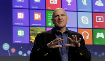 Microsoft-Chef Steve Ballmer verffentlicht neues Betriebssystem Windows 8. (Foto: AP)