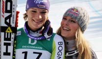 Maria Riesch und Lindsey Vonn sind Freundinnen und Konkurrentinnen zugleich. (Quelle: imago)