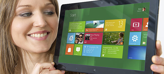 Windows 8 auf dem Microsoft Surface (Quelle: Microsoft)