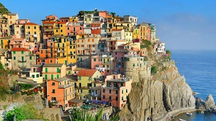 Manarola, Cinque Terre, gehrt zu den farbenfrohsten Drfern der Welt. (Quelle: Thinkstock by Getty-Images)
