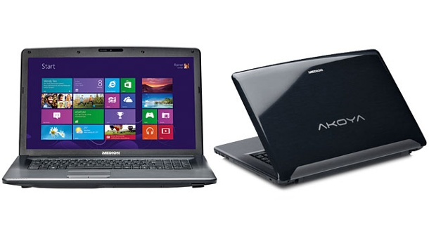 Aldi-Notebook Medion Akoya P7816 mit Windows 8. Aldi-Notebook Medion Akoya P7816 (Quelle: Hersteller)