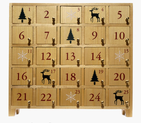 ein adventskalender aus holz 4. Black Bedroom Furniture Sets. Home Design Ideas