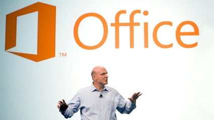 Steve Ballmer stellte das &quot;ehrgeizigste Office aller Zeiten&quot; vor. (Quelle: Microsoft)