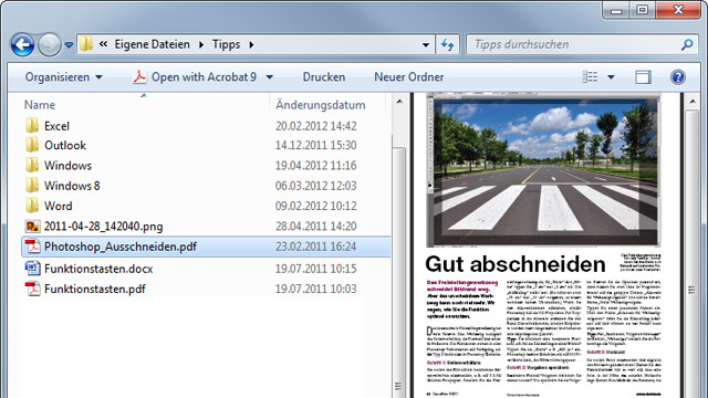 Windows 7: Word-Dateien im Windows Explorer lesen