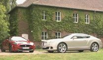 Bentley Continental GT und den Jaguar XKR-S (Screenshot: Car News)