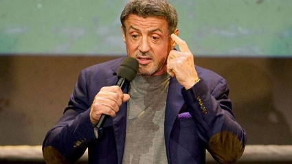&quot;Es war Horror&quot;: Sylvester Stallone lstert ber Beckmann. (Quelle: dpa)