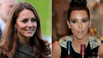 Kim Kardashian wollte Herzogin Kate mit ihrer Klamottenlinie ausstatten.  (Quelle: dpa\Reuters)