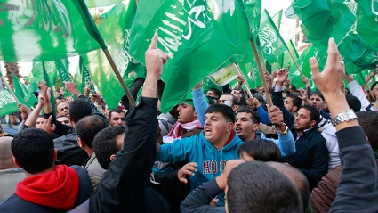 Anhnger der Hamas in Ramallah (Quelle: dapd)