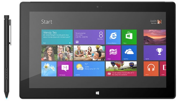 "Surface Pro: Windows-8-Tablet kostet ab 900 Dollar. Microsoft Tablet Surface Pro mit ""Surface Pen"" (Quelle: Microsoft)"