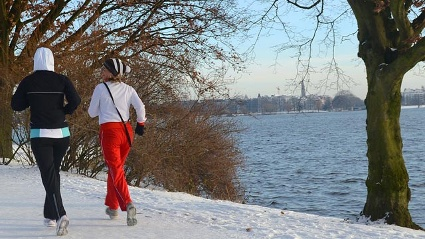 Winterwetter in Hamburg (Quelle: dpa)