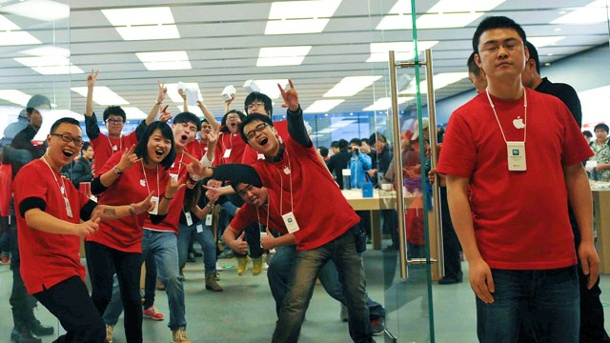 iPhone 5 startet auch in China richtig durch. iPhone 5 startet mit Verkaufsrekord in China. (Quelle: AP/dpa)